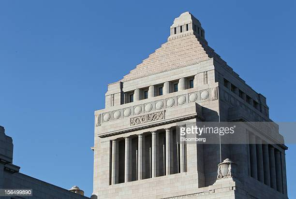 The National Diet Building stands in Tokyo Japan on Friday Nov 16 2012 Prime Minister Yoshihiko Noda dissolved the lower house of parliament today...