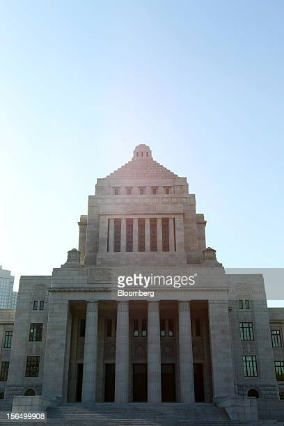 The National Diet Building stands in Tokyo, Japan, on Friday, Nov. 16, 2012. Prime Minister Yoshihiko Noda dissolved the lower house of parliament...