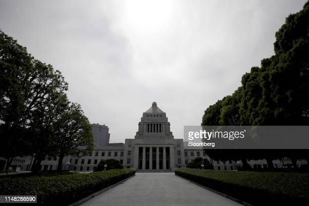 The National Diet building stands in Tokyo, Japan, on Tuesday, June 4, 2019. Less than two years after winning a landslide election, Japanese Prime...