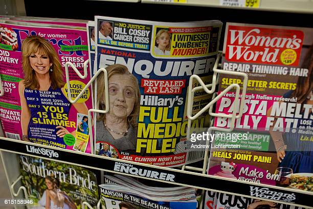 The National Enquirer repeats an allegation of Donald Trump's that Hillary Clinton is not healthy enough for the job of President by using a doctored...