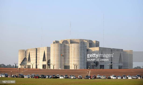 The national flag flies outside Bangladesh Parliament Building where the Prime Ministerelect Sheikh Hasina Wajed and nearly 200 other Awami League...