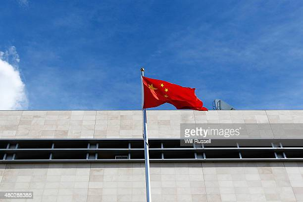 The national flag flies outside the Consulate General Of The Peoples Republic of China in East Perth Western Australia on March 24 It was reported...