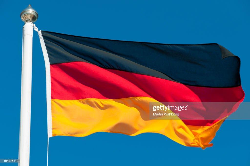 flagge von deutschland stock foto getty images. Black Bedroom Furniture Sets. Home Design Ideas