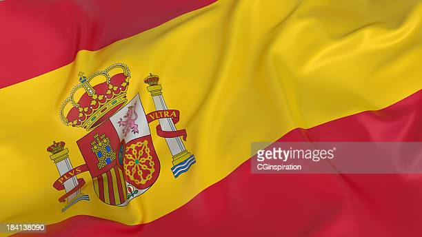 The national flag of the country of Spain