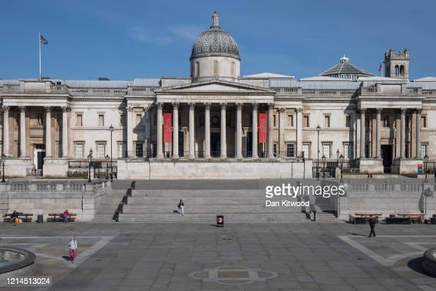 The National Gallery, closed and an empty Trafalgar Square on March 24, 2020 in London, England. British Prime Minister, Boris Johnson, announced...