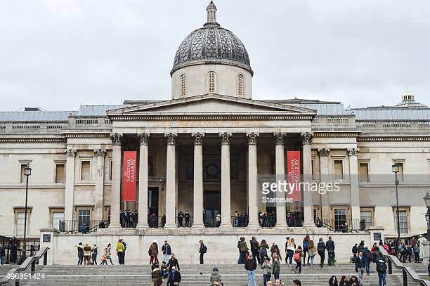 the national gallery - london, uk - national gallery london stock pictures, royalty-free photos & images