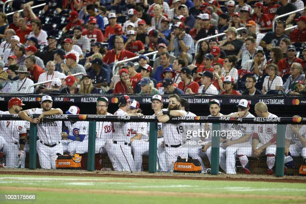 The National League bench during the 89th MLB AllStar Game presented by Mastercard at Nationals Park on July 17 2018 in Washington DC
