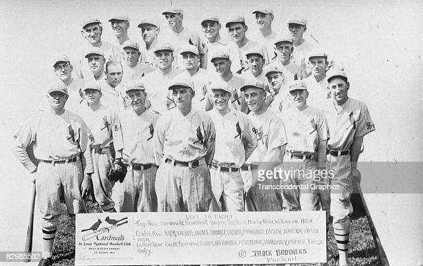 ST LOUIS 1928 The National League Champion St Louis Cardinals team is presented in a photo collage on a real photo postcard In the front row are...