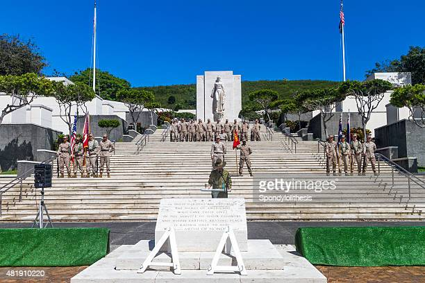 Le National Memorial Cemetery du Pacifique, honolulu, Hawaï