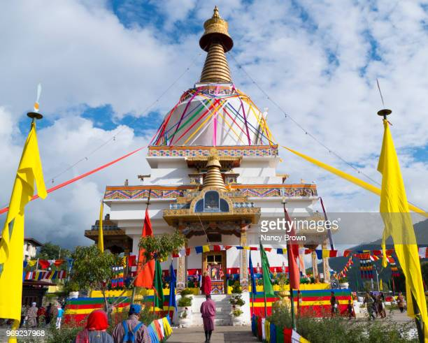 the national memorial chorten (stupa) in bhutan. - ティンプー ストックフォトと画像