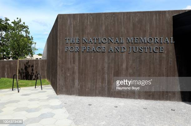 The National Memorial For Peace And Justice in Montgomery, Alabama on July 6, 2018.