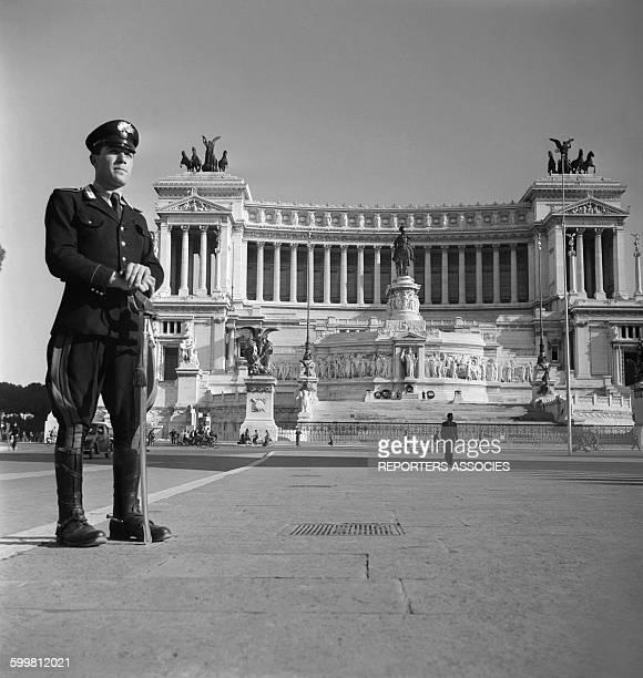 The national Monument Dedicated to Victor Emmanuel II aka the Altare della Patria in Rome Italy circa 1960