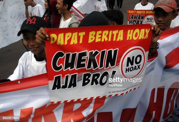 The National Movement of AntiNews Hoax took action in the area of Bundaran HI Jakarta in March 112017 The action was conducted to encourage people to...