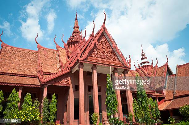 the national museum in phnom penh, cambodia - phnom penh stock pictures, royalty-free photos & images