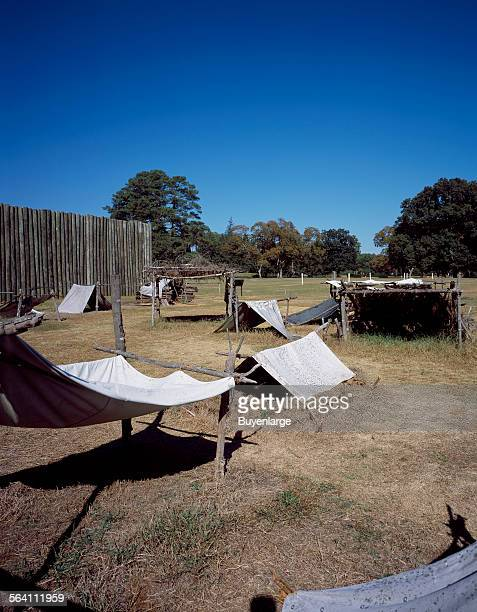 The National Park Service devotes a portion of the Andersonville Prison grounds to a depiction of the despicable camp which the Confederates called...