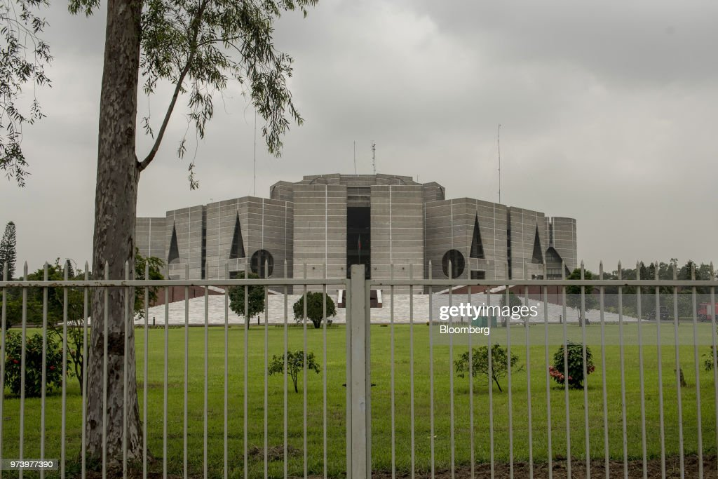 The National Parliament House stands in Dhaka, Bangladesh, on Tuesday, June 5, 2018. The Bangladesh economy will expand 6.9% this financial year and 6.8% in 2019, according to a survey conducted by Bloomberg News. Photographer: Ismail Ferdous/Bloomberg via Getty Images