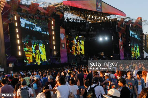 The National perform during the first day of Lollapalooza Chile 2018 at Parque O'Higgins on March 16 2018 in Santiago Chile
