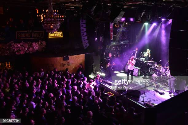 The National performs onstage during Citi Sound Vault Presents The National at Irving Plaza on January 25 2018 in New York City