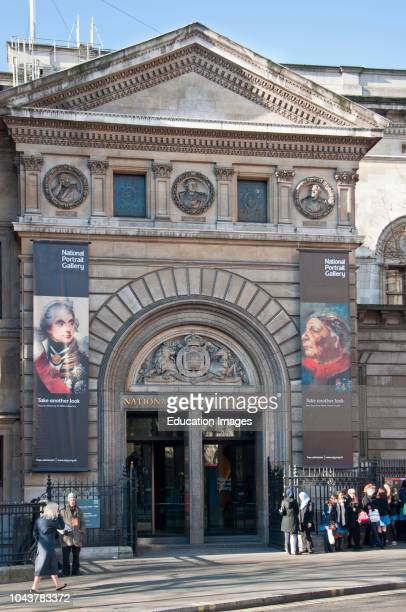 The National Portrait Gallery at Trafalgar Square, London, England.