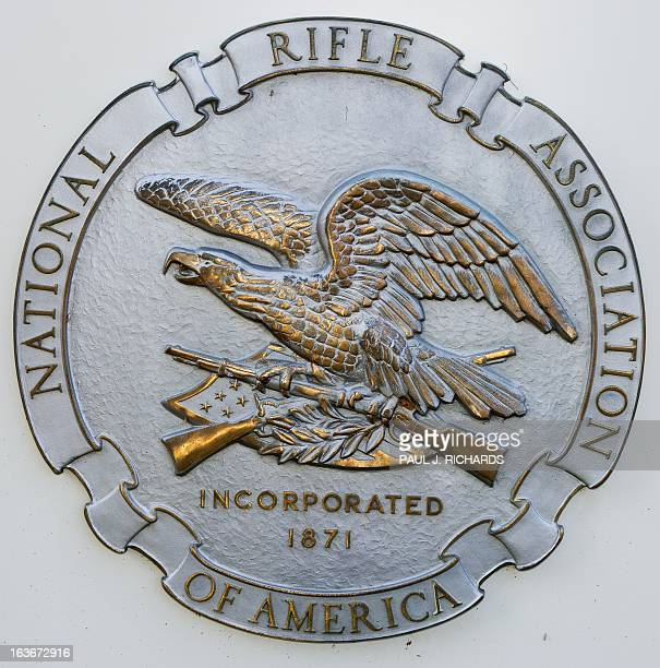 The National Rifle Association seal is seen at their headquarters March 14 in Fairfax Virginia AFP Photo/Paul J Richards / AFP PHOTO / Paul J RICHARDS