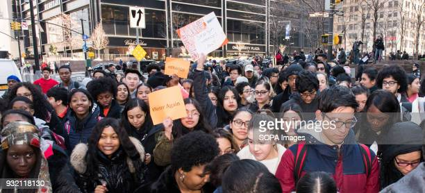 The National School Walkout a 17 minute walkout by students in honor of the 17 people who died one month ago in the shooting at Marjory Stoneman...
