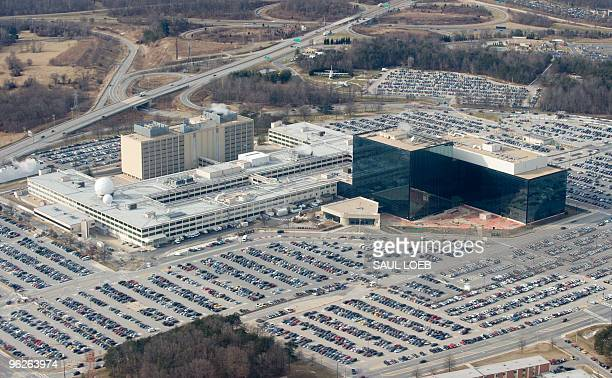 The National Security Agency headquarters at Fort Meade Maryland as seen from the air January 29 2010 AFP PHOTO/Saul LOEB