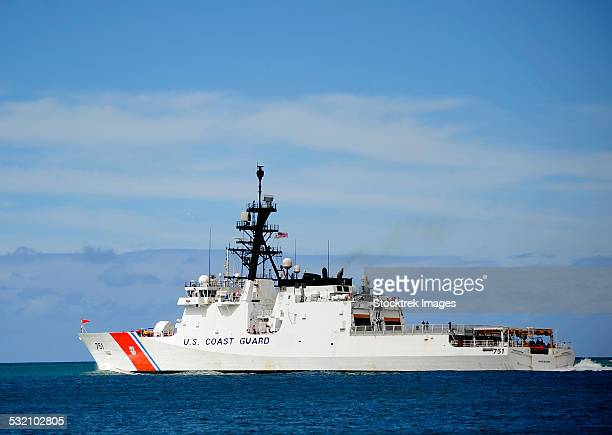 the national security cutter uscgc waesche. - coast guard stock pictures, royalty-free photos & images