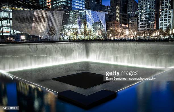 The National September 11 Memorial at Night