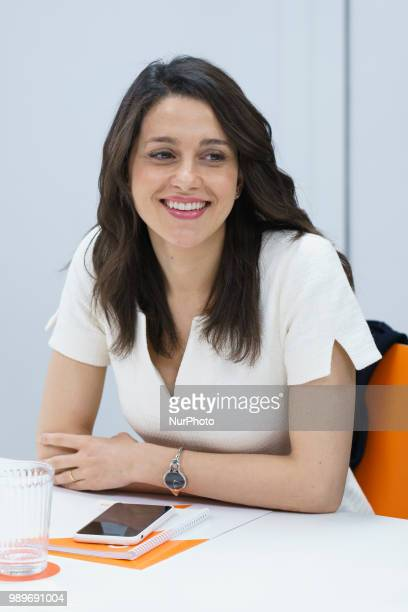 The national spokesperson for Citizens Ines Arrimadas during the press conferenceof the meeting of the Executive Committee held today at the party...