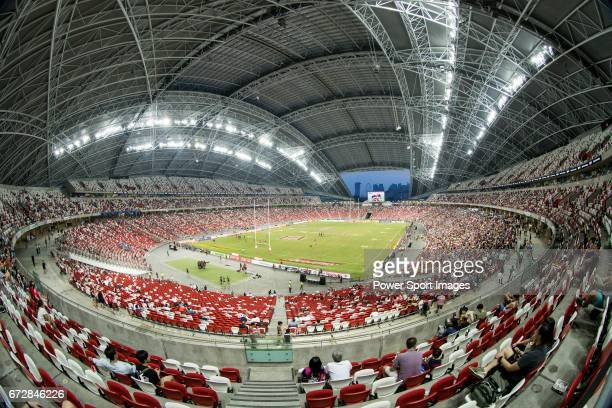 The National Stadium during the match Scotland vs Wales Day 2 of the HSBC Singapore Rugby Sevens as part of the World Rugby HSBC World Rugby Sevens...