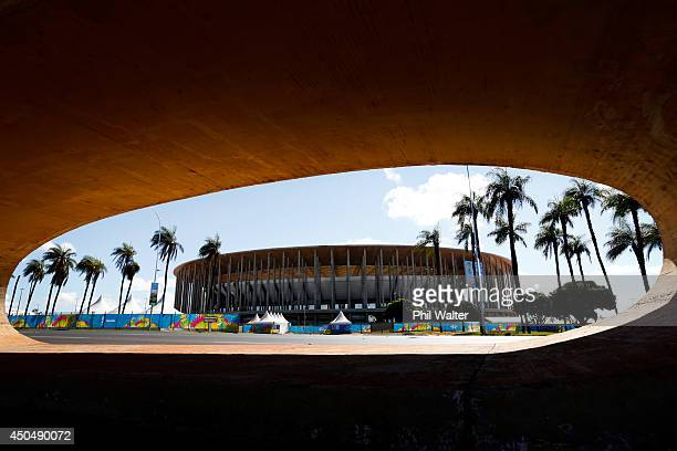 The National Stadium of Brazil is pictured ahead of the 2014 FIFA World Cup on June 12 2014 in Brasilia Brazil