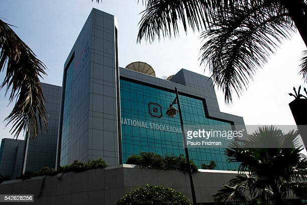 The National Stock Exchange building at Mumbai Maharastra India