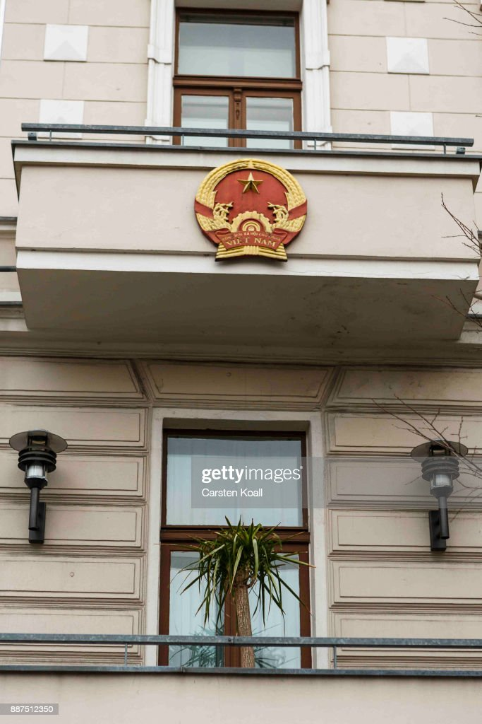The National Symbol outside the Vietnamese Embassy stands on December 7, 2017 in Berlin, Germany. According to German newspaper Sueddeutsche Zeitung evidence suggests the Vietnamese Embassy had a direct role in the July 23 kidnapping of Vietnamese politician Trinh Xuan Thanh. Trinh, who had sought asylum Berlin after fleeing charges in Vietnam, was kidnapped in broad daylight on the street in Berlin. According to Sueddeutsche Zeitung the van used in the kidnapping drove directly to the Vietnamese Embassy and embassy employees took part in the getting him out of the country. Trinh appeared several days later in custody in Vietnam.