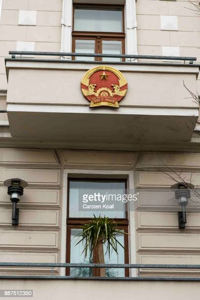 The National Symbol outside the Vietnamese Embassy stands on December 7 2017 in Berlin Germany According to German newspaper Sueddeutsche Zeitung...