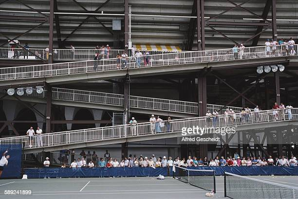 The National Tennis Center later the USTA Billie Jean King National Tennis Center in the Flushing Meadows Corona Park in Queens New York City 1987