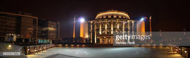 The National Theatre is the main theatre of Budapest. The amazing ship-shaped building lies on the bank of the Danube.