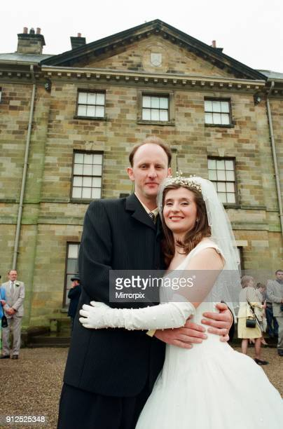 The National Trust's Ormesby Hall saw its first ever wedding Melanie Westcough and Stuart Fox outside the hall after their wedding 6th June 1998