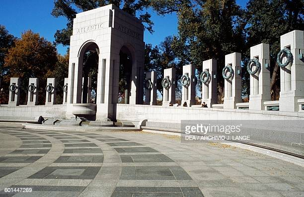 The National World War II Memorial detail Washington DC District of Columbia United States of America 20th century