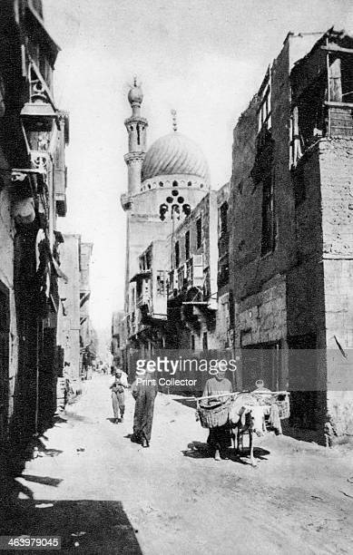 The native quarter Cairo Egypt c1920s Plate taken From In the Land of the Pharaohs published by Lehnert Landrock