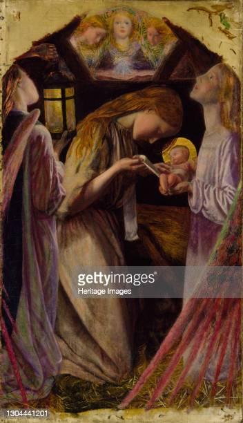 The Nativity, 1858. Artist Arthur Hughes.