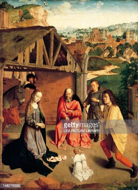 The Nativity ca 1490 by Gerard David Budapest Szepmuveszeti Muzeum