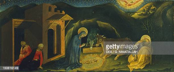 The Nativity detail of the predella of the Adoration of the Magi or Strozzi Altarpiece by Gentile da Fabriano tempera on wood 203x282 cm