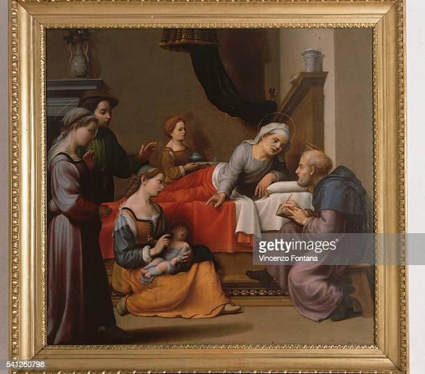 The Nativity of Saint John the Baptist by Giuliano Bugiardini