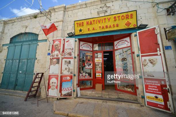 The Nativity Store located near the Church of the Nativity in Bethlehem Tuesday 13 March 2018 in Bethlehem Palestine