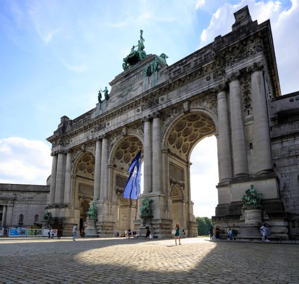 BEL: Brussels Landmarks Lit Up In Blue For NATO