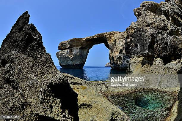 The natural arch 'The Azure Window' is seen at Dwejra Bay on May 20 2014 in Dwejra/Gozo Malta