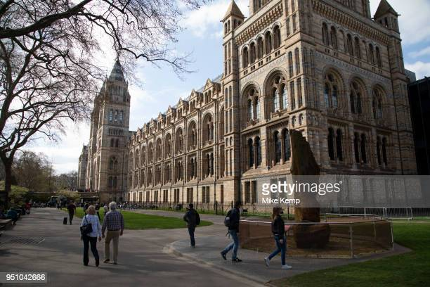 The Natural History Museum exterior in London England United Kingdom The museum exhibits a vast range of specimens from various segments of natural...