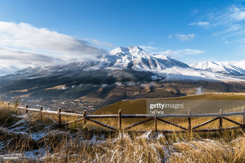 The natural scenery of the Tibetan Plateau : Stock Photo