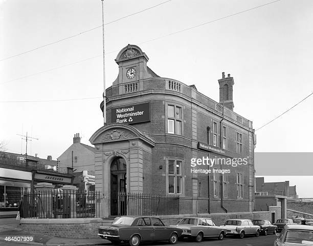 The NatWest Bank Mexborough South Yorkshire 1971 The grand facade of the Nat West Bank in the former mining community of Mexborough Before parking...