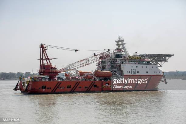 The Nautical Aliya arrives February 14, 2017 in Chittagong, Bangladesh. The Rohingya aid ship, Nautical Aliya, carrying 2,200 tons of rice, emergency...